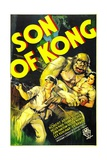 THE SON OF KONG  from left: Robert Armstrong  Helen Mack  1933