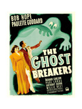 THE GHOST BREAKERS  from left: Paulette Goddard  Bob Hope on window card  1940