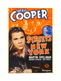 STREETS OF NEW YORK  from left: Jackie Cooper  Marjorie Reynolds on window card  1939