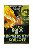 THE BRIDE OF FRANKENSTEIN  from left: Elsa Lanchester  Boris Karloff  1935