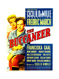 THE BUCCANEER  from left: Franciska Gaal  Fredric March on midget window card  1938