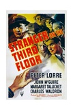 STRANGER ON THE THIRD FLOOR  top left: Peter Lorre  lower right: John McGuire  1940