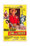 LAW AND ORDER  center: Ronald Reagan on poster art  1953