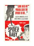SPIDER BABY  top: Jill Banner  bottom: Beverly Washburn on 1968 poster art  1964