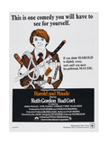 HAROLD AND MAUDE  South African poster  Bud Cort  1971