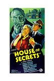 HOUSE OF SECRETS  US poster  Muriel Evans (hand over mouth)   1936