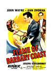 FLAME OF BARBARY COAST  US poster  from left: Ann Dvorak  John Wayne  Joseph Schildkraut  1945