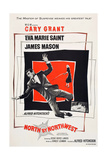 North by Northwest  Cary Grant  Eva Marie Saint on poster art  1959