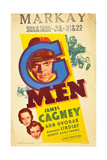 G-MEN  Ann Dvorak  Margaret Lindsay  James Cagney on window card  1935