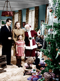 MIRACLE ON 34TH STREET  from left: John Payne  Maureen O'Hara  Natalie Wood  Edmund Gwenn  1947