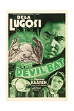 THE DEVIL BAT  Bela Lugosi (top)  Suzanne Kaaren (bottom)  1940