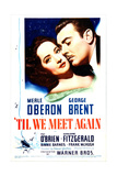 'TIL WE MEET AGAIN  US poster  from left: Merle Oberon  George Brent  1940