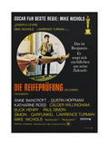 THE GRADUATE  (DIE REIFEPRUFUNG)  German poster  Dustin Hoffman  1967