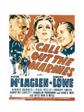 CALL OUT THE MARINES  from left: Victor McLaglen  Binnie Barnes  Edmund Lowe on window card  1942