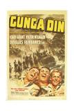 Gunga Din  Cary Grant  Victor McLaglen  Douglas Fairbanks Jr  1939  poster art