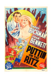 PUTTIN' ON THE RITZ  US re-release poster art  from left: Harry Richman  Joan Bennett  1930