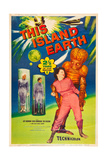 THIS ISLAND EARTH  Jeff Morrow  Rex Reason  Faith Domergue  1955  poster art