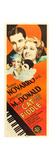 THE CAT AND THE FIDDLE  top l-r: Ramon Novarro  Jeanette MacDonald on insert poster  1934