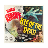 ISLE OF THE DEAD  l-r: Boris Karloff  Ellen Drew  Marc Cramer on poster art  1945