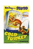 COLD TURKEY  US poster  Pluto (the dog)  Milton (the cat)  1951