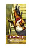 TWISTED TRAILS  Tom Mix on poster art  1916