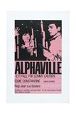 ALPHAVILLE  Swedish poster  from left: Anna Karina  Eddie Constantine  1965