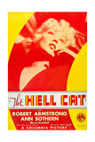 THE HELL CAT  US poster art  Ann Sothern  1934