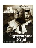 DER ZERBROCHENE KRUG  German poster  Emil Jannings  1937