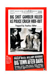 BIG TOWN AFTER DARK  US poster  from left: Richard Travis  Phillip Reed  Hillary Brooke  1947