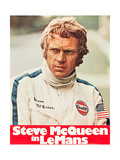 LE MANS  Steve McQueen on poster art  1971