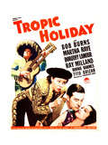 TROPIC HOLIDAY  US poster art  from left: Bob Burns  Martha Raye  Ray Milland  Dorothy Lamour  1938