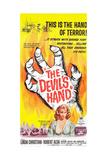 THE DEVIL'S HAND  bottom: Linda Christian on poster art  1962