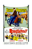 ROUSTABOUT  from left  Barbara Stanwyck  Elvis Presley  Joan Freeman  1964