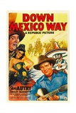DOWN MEXICO WAY  from left: Smiley Burnette  Fay McKenzie  Gene Autry  1941