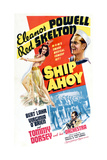 SHIP AHOY  clockwise from left  Eleanor Powell  Red Skelton  Tommy Dorsey  1942