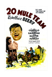 20 MULE TEAM   right top: Wallace Beery  Anne Baxter  Marjorie Rambeau (with broom)  1940