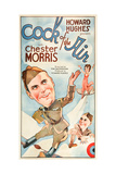 COCK OF THE AIR  Chester Morris on US poster art  1932