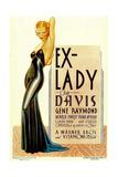 EX-LADY  Bette Davis on midget window card  1933