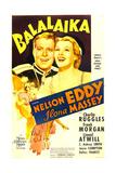 BALALAIKA  US poster art  top from left: Nelson Eddy  Ilona Massey  1939