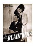 THE BLUE FOX  (aka DER BLAUFUCHS)  German poster  from left: Willy Birgel  Zarah Leander  1938