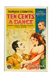 TEN CENTS A DANCE  foreground from left on US poster art: Ricardo Cortez  Barbara Stanwyck  1931