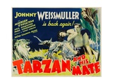 TARZAN AND HIS MATE  from left: Maureen O'Sullivan  Johnny Weissmuller  1934