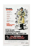 THE RETURN OF THE PINK PANTHER  US poster  Peter Sellers  1975
