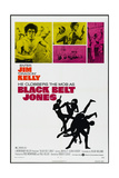 BLACK BELT JONES  US poster  from upper left: Jim Kelly  Gloria Hendry  1974