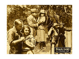 BLACK GOLD  bottom left: center from left: Laurence Criner  Kathryn Boyd   on lobbycard  1928