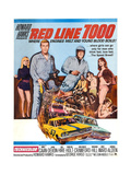 RED LINE 7000  James Caan 9second from left)  Skip Ward (helmet)  Mariana Hill (hand on hip)  1965