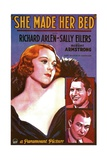 SHE MADE HER BED  US poster  from top: Sally Eilers  Richard Arlen  Robert Armstrong  1934