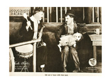 A DOG'S LIFE  right: Charlie Chaplin; dog on lap: 'Mut'; on lobbycard  1918