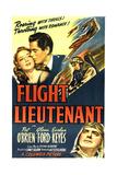 FLIGHT LIEUTENANT  top from left: Evelyn Keyes  Glenn Ford  bottom right: Pat O'Brien  1942