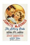 THE LOTTERY BRIDE  US re-release poster art  from left: John Garrick  Jeanette MacDonald  1930
